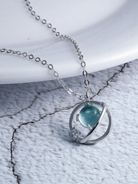 Korean Charming 925 Sterling Zilver Met Crystal Kettingen