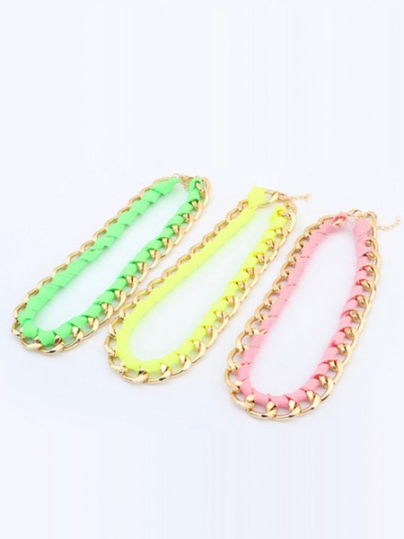 Occident Trendy Major suit Fluorescent colors Ketting