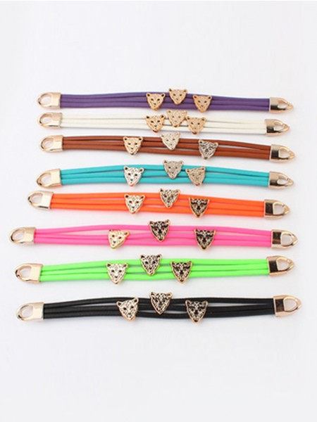 Occident Candy colors Summer Leopard head Bracelets
