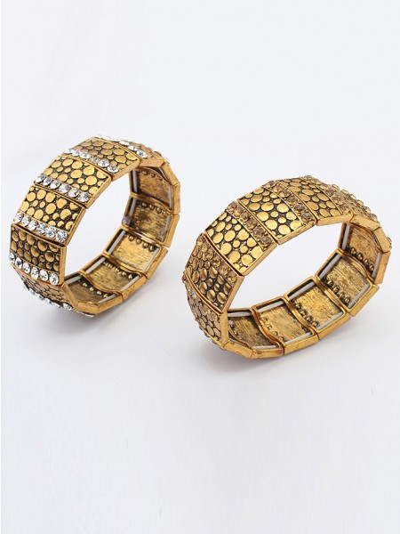 Occident Exotic Personality Wide version Elasticity Bracelet